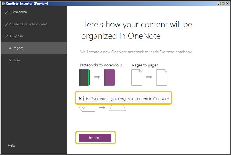 evernote onenote 移行ツール