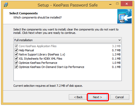 keepass password safe インストール4