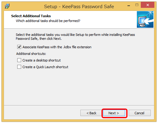 keepass password safe インストール5