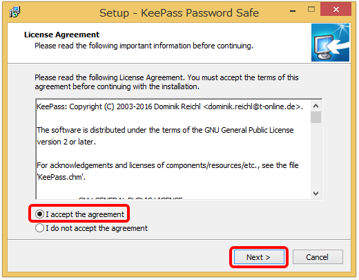 keepass password safe インストール3